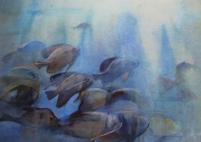 Diving Blues - 56x76cm