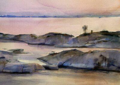 Anette Gustafsson Art - Akvarellmålare   Skärgård